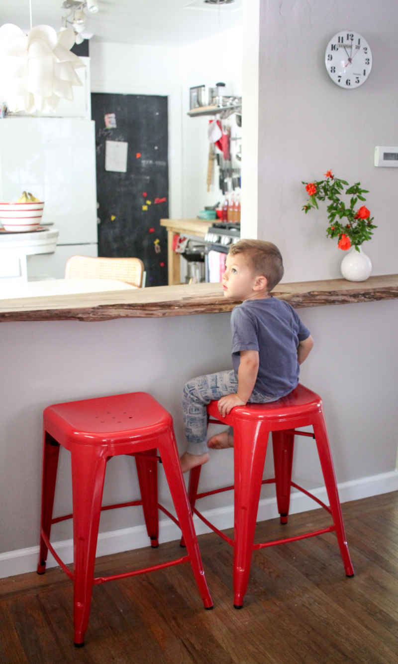 Extra seating in a small kitchen