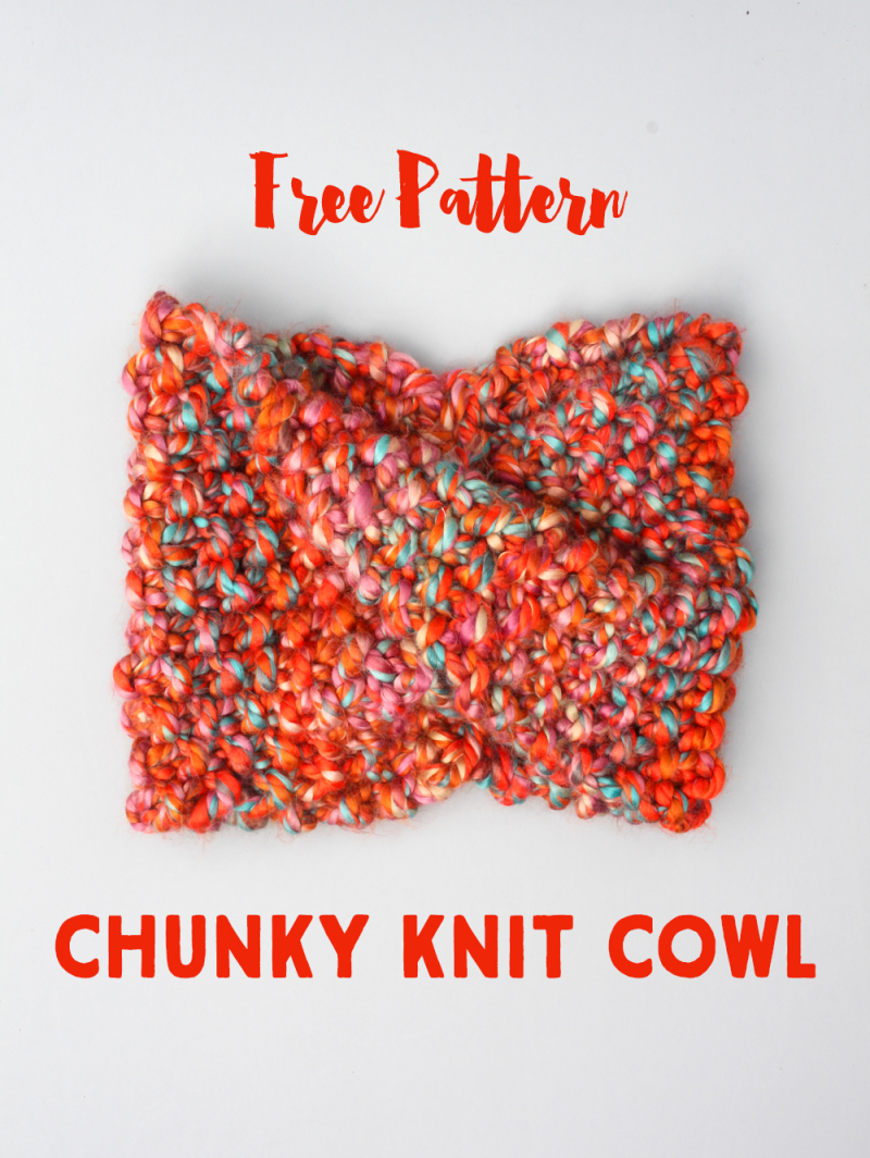 Free pattern knit cowl
