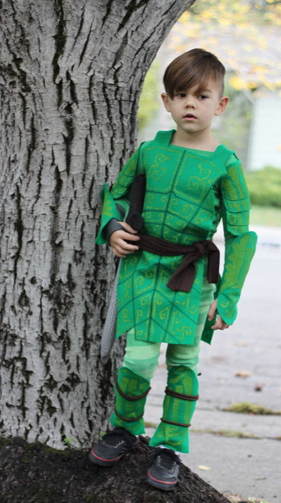 Handmade leafman costume