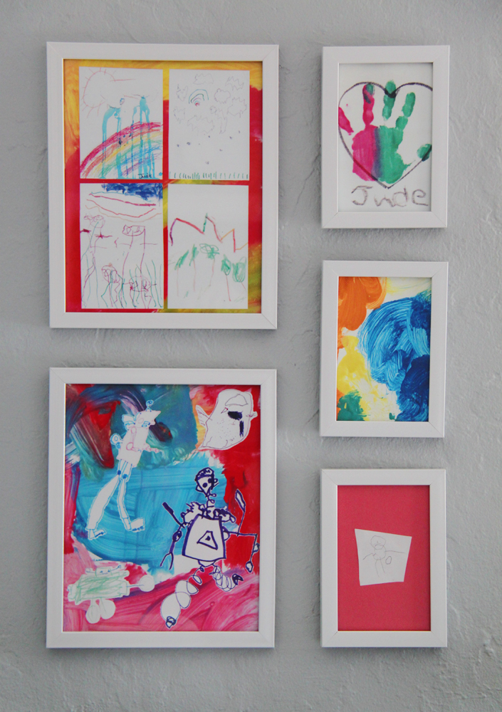 DIY kid art gallery