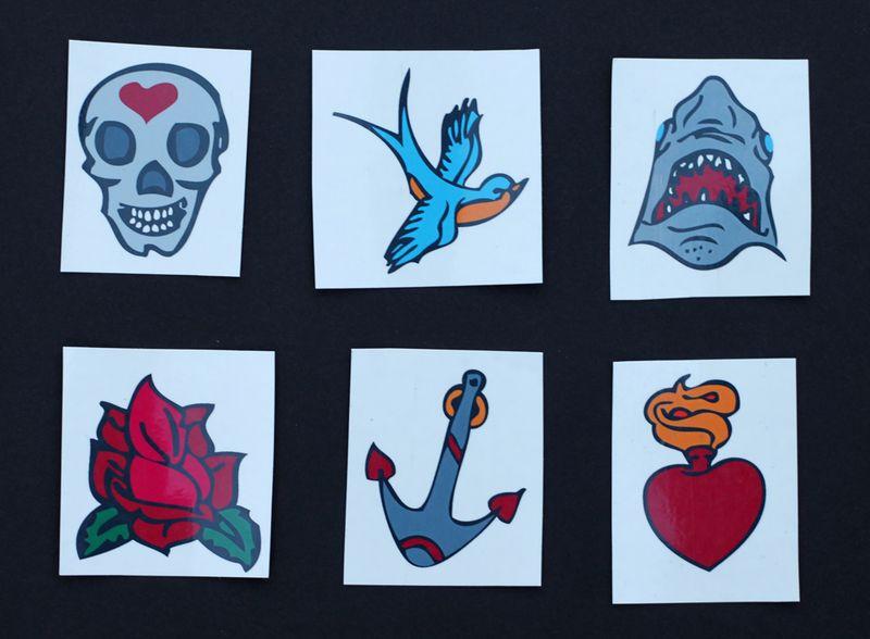 Free printable temporary tattoos