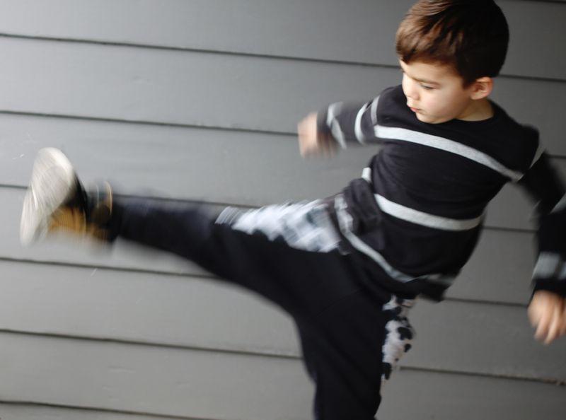 Ninja pants in action