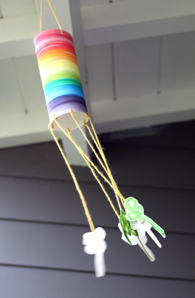 Wind sock kid craft