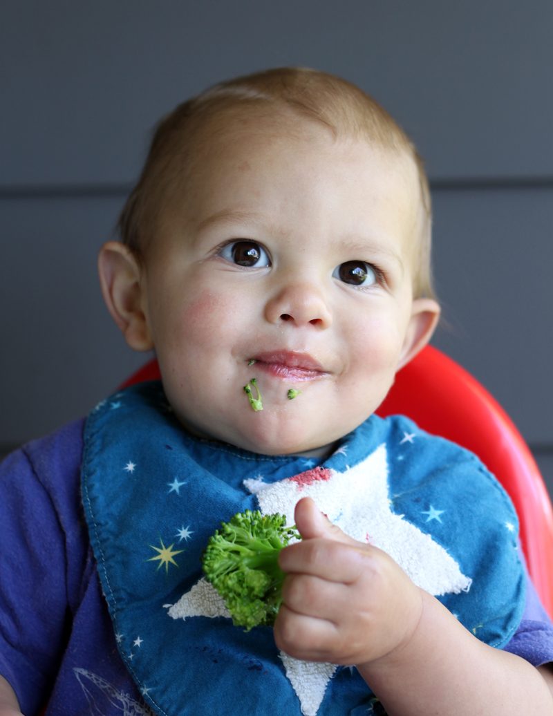 Baby loves broccoli