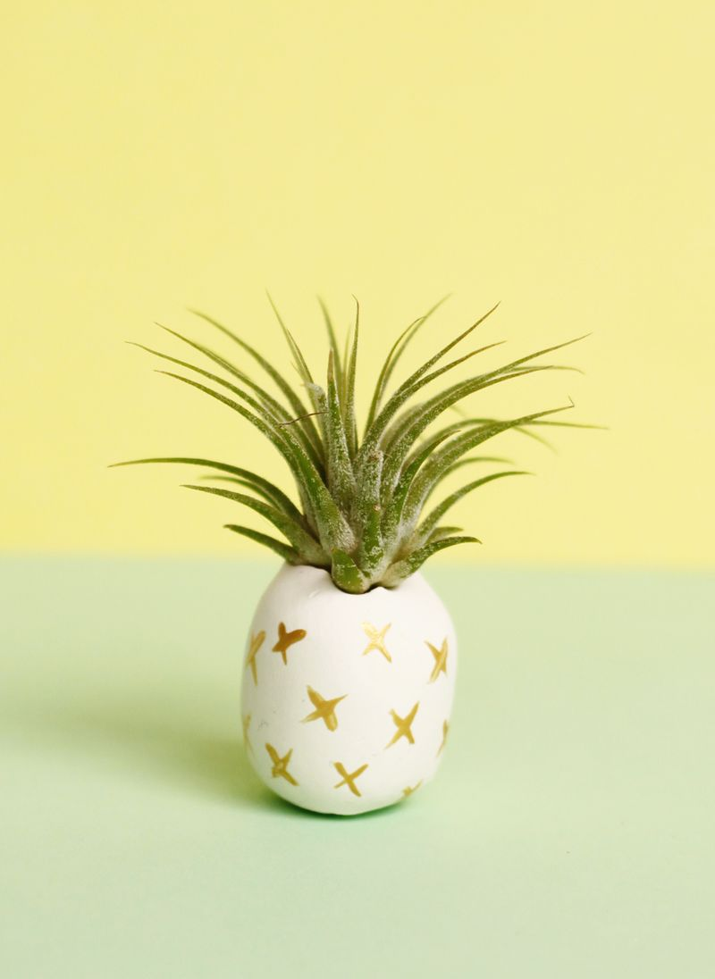 Painted clay pineapple