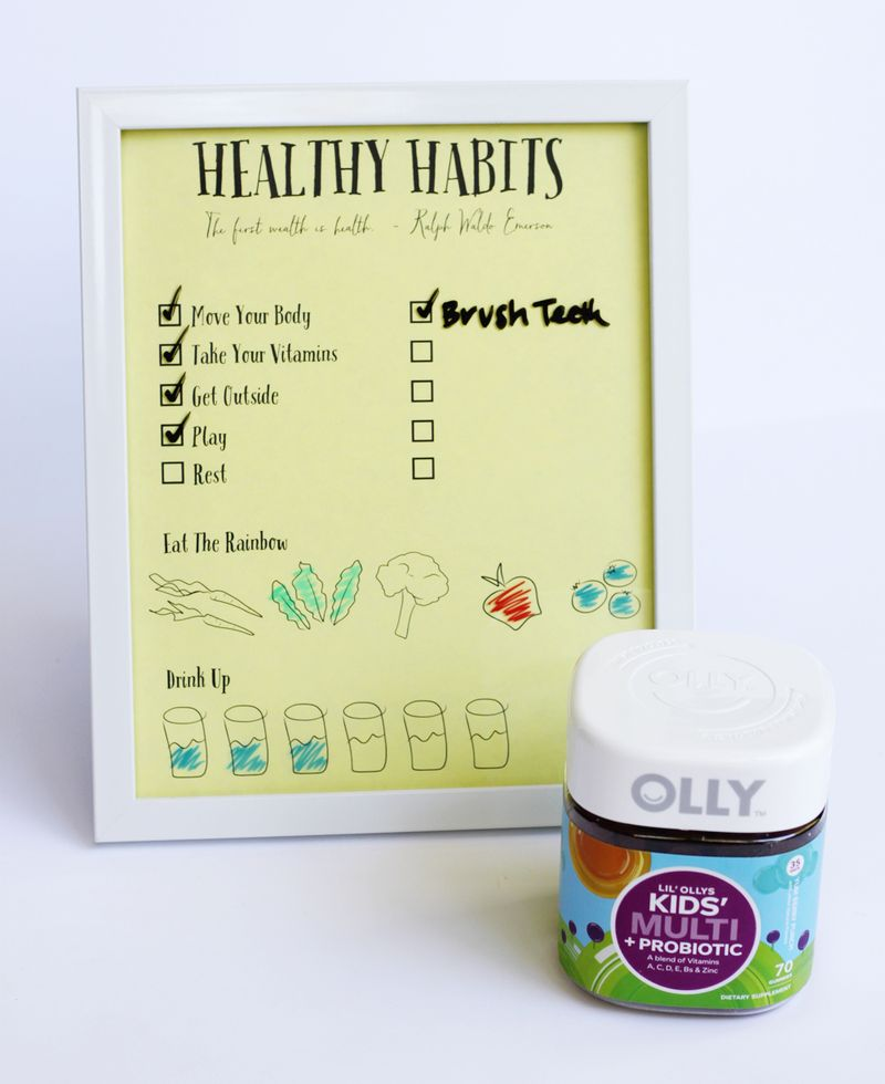 Free printable healthy habits for kids