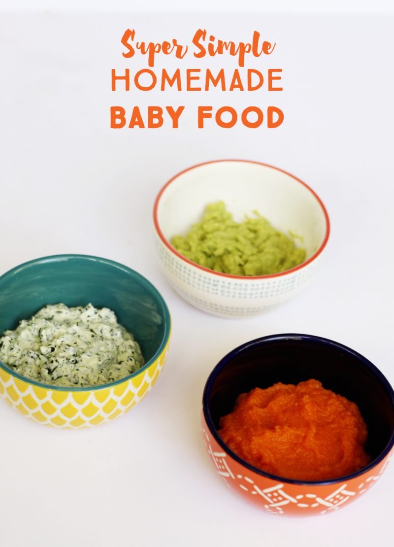 Simple homemade baby food