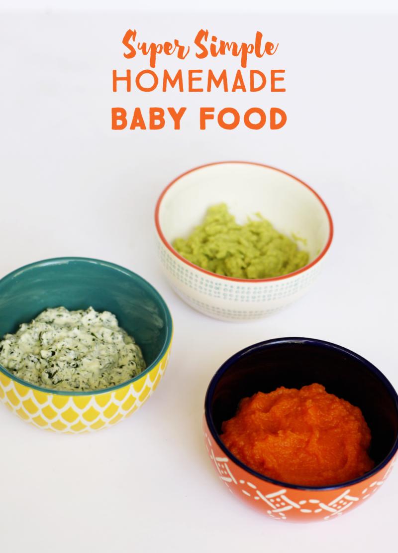 Simple homemade baby food
