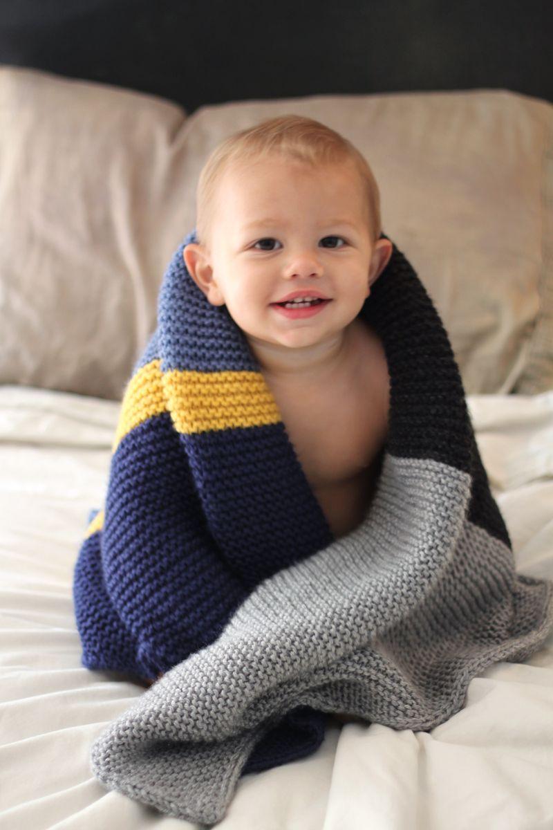 DIY knit baby blanket