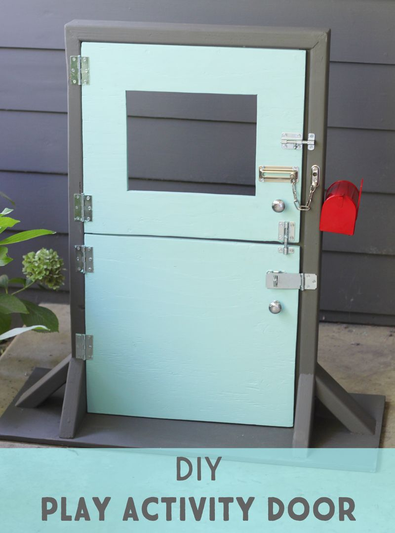 Diy play activity door