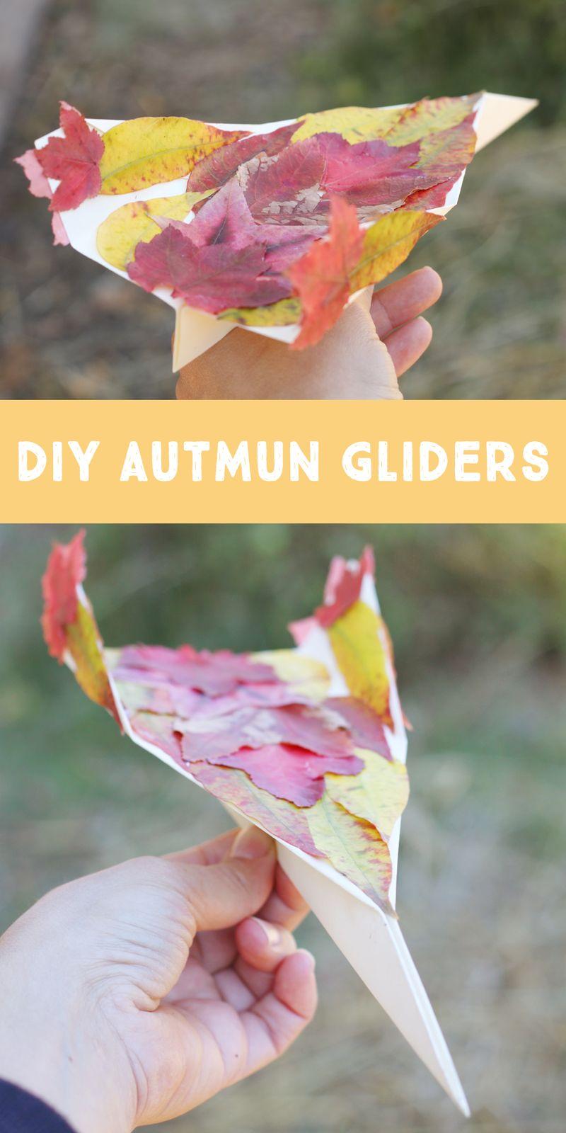 Diy fall leaf airplanes