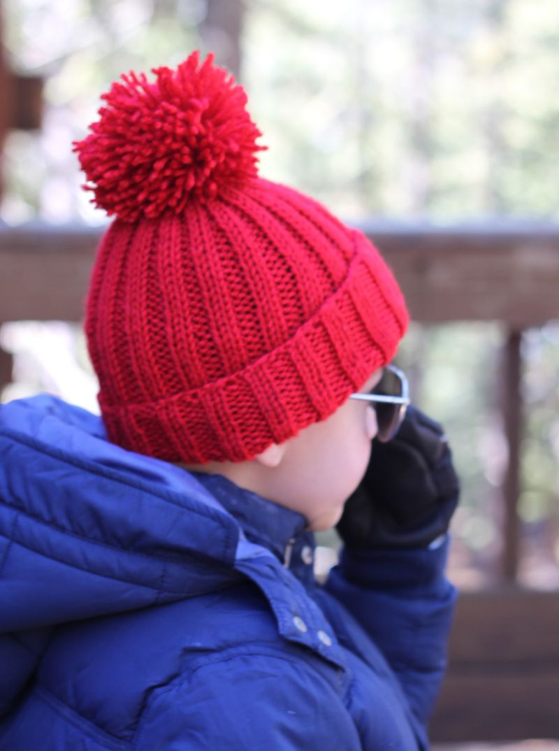 small + friendly: Free Pattern: Simple Ribbed Knit Hat