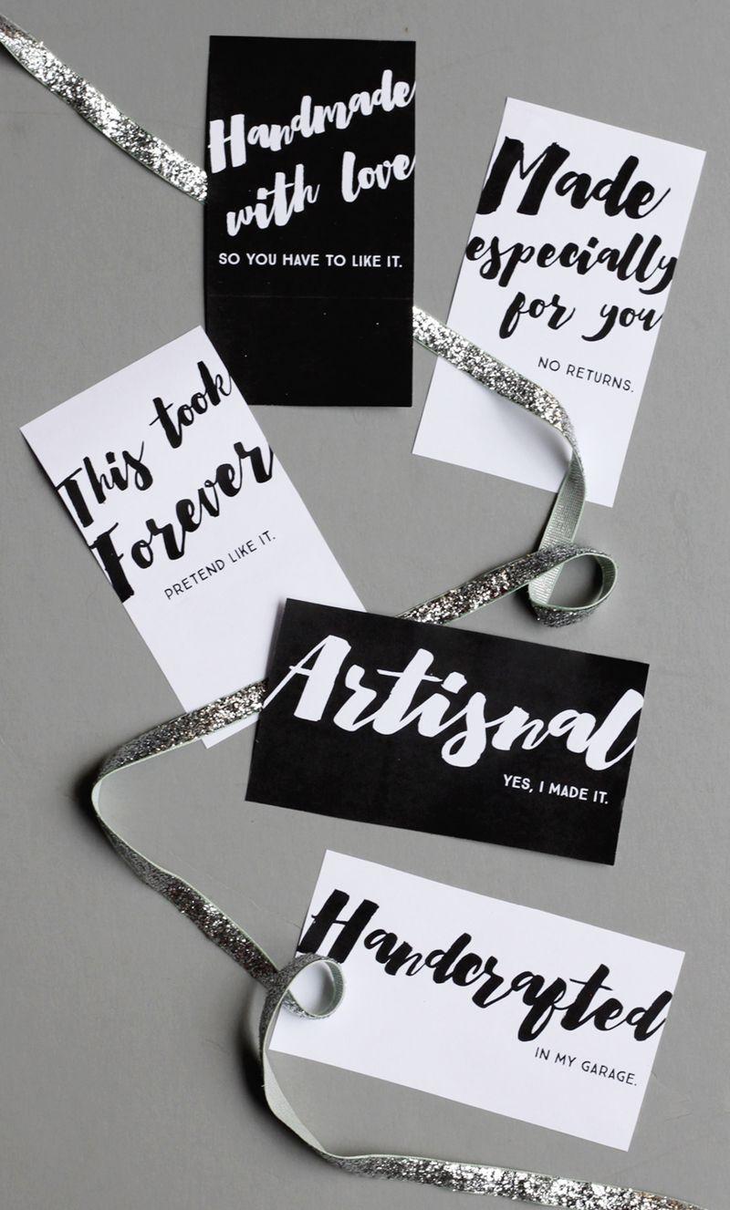 Free printable gift tags for handmades