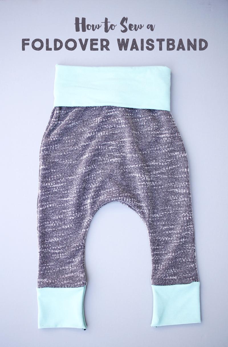 Sew a foldover waistband