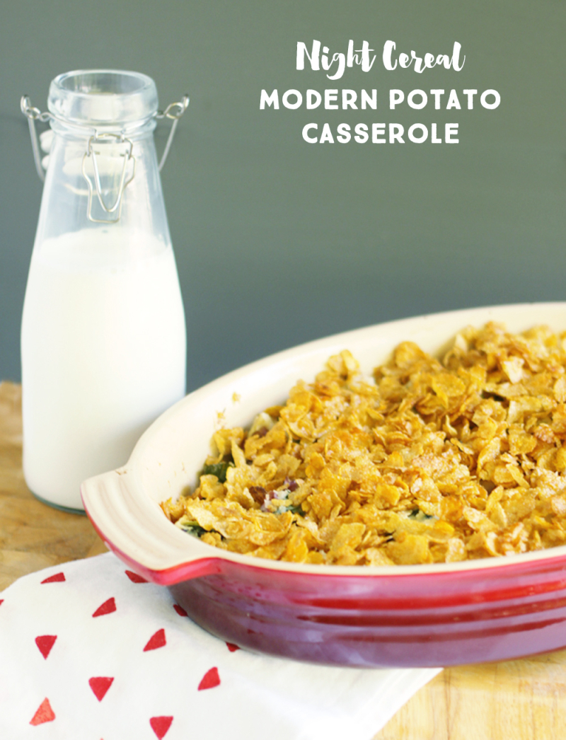 Modern potato casserole text