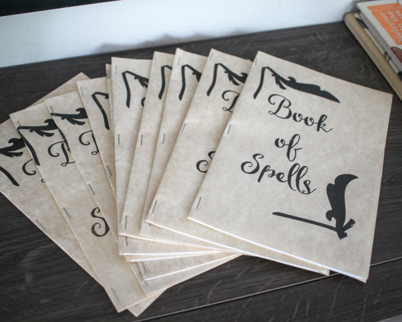 Diy harry potter party-book of spells