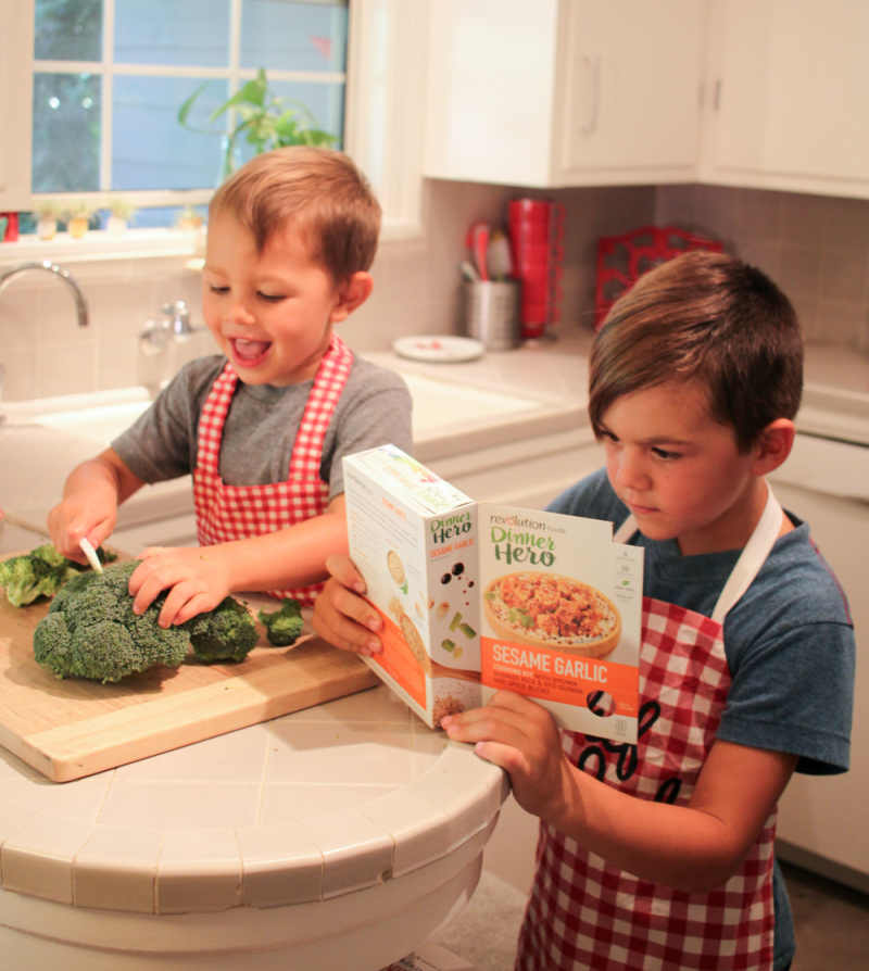 Kids help with revolution foods