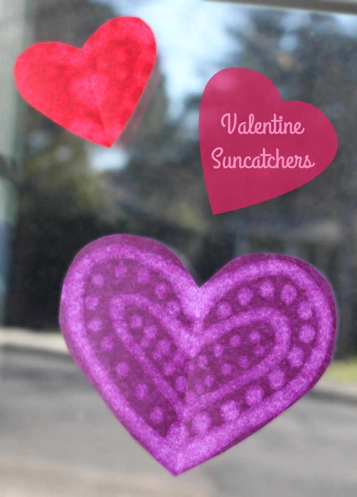 Valentine suncatchers