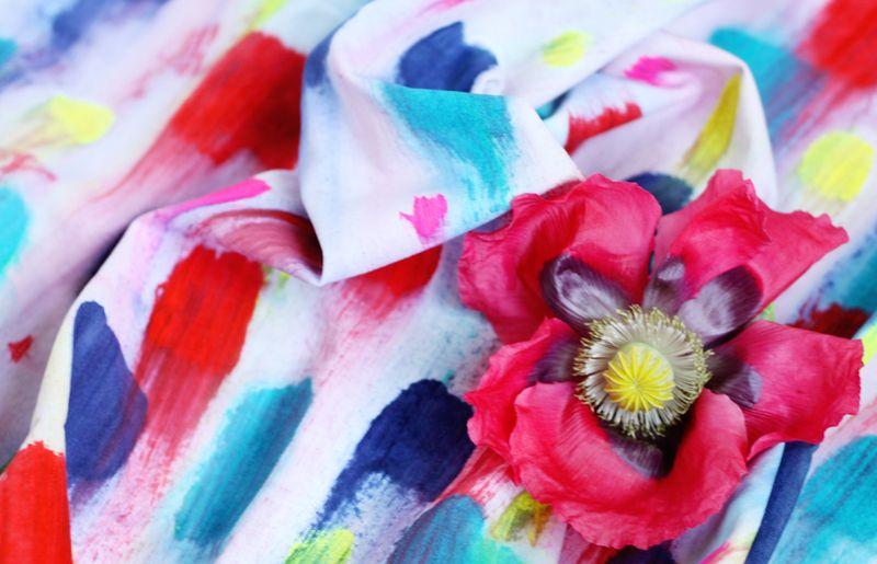Handpainted fabric