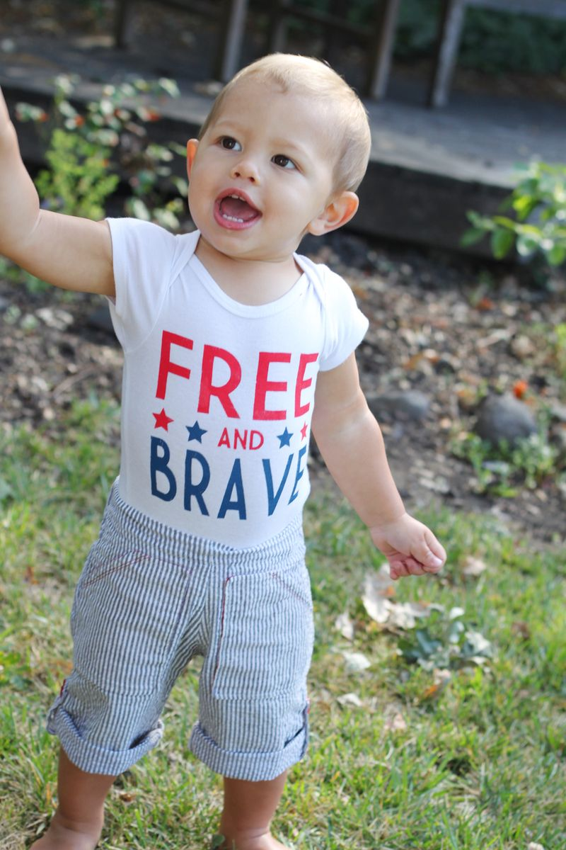 Kids 4th of july shirt