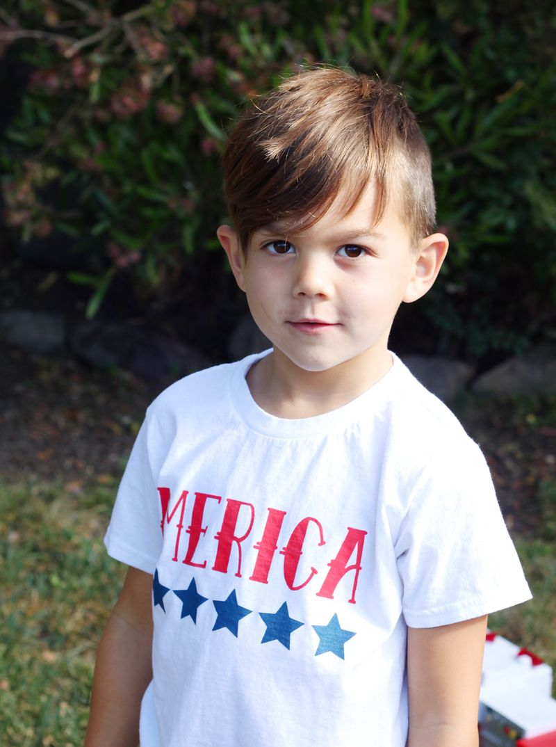 Handmade fourth of july shirt