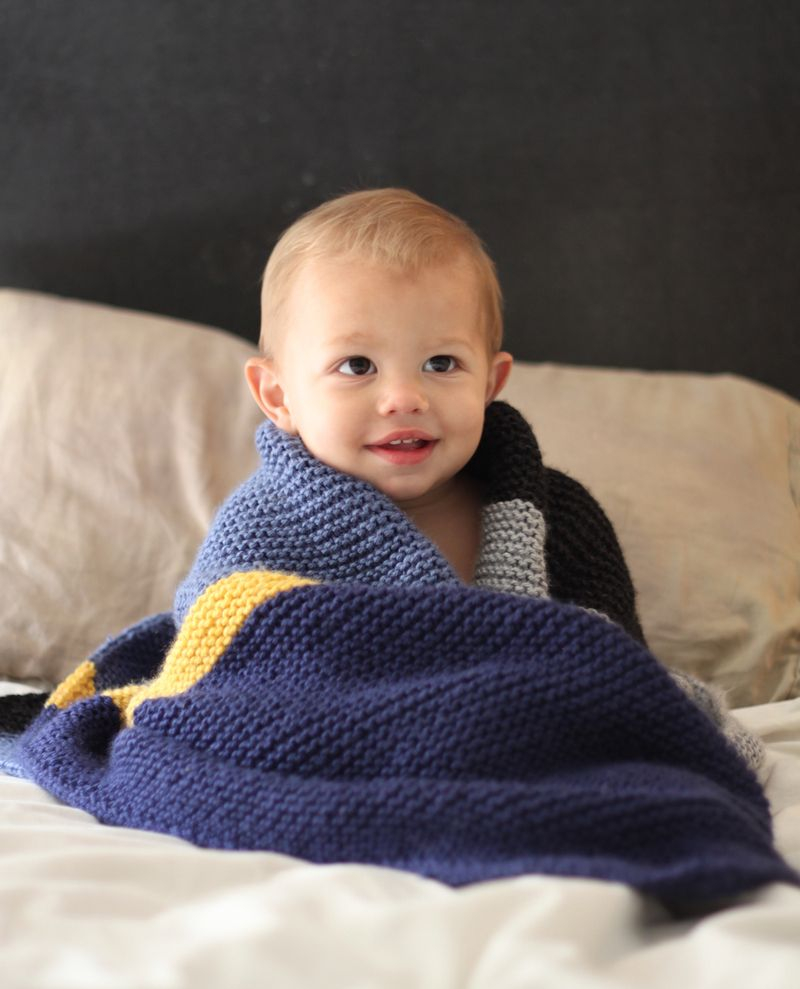 Free pattern knit baby blanket