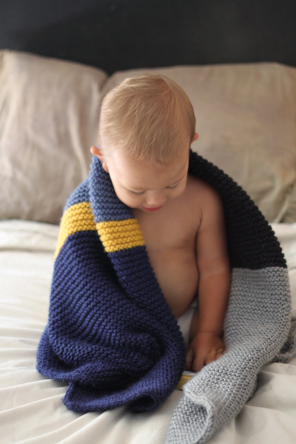 Small friendly colorblock bias baby blanket how to knit a baby blanket bankloansurffo Images
