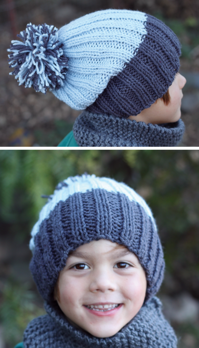 small + friendly  Free Pattern  Simple Ribbed Knit Hat 91d68c68211