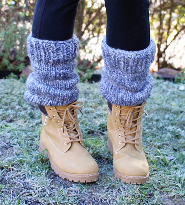 How to knit leg warmers