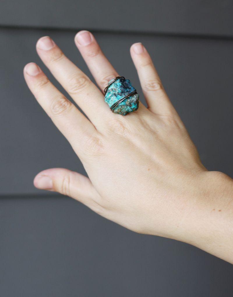 Diy stone ring