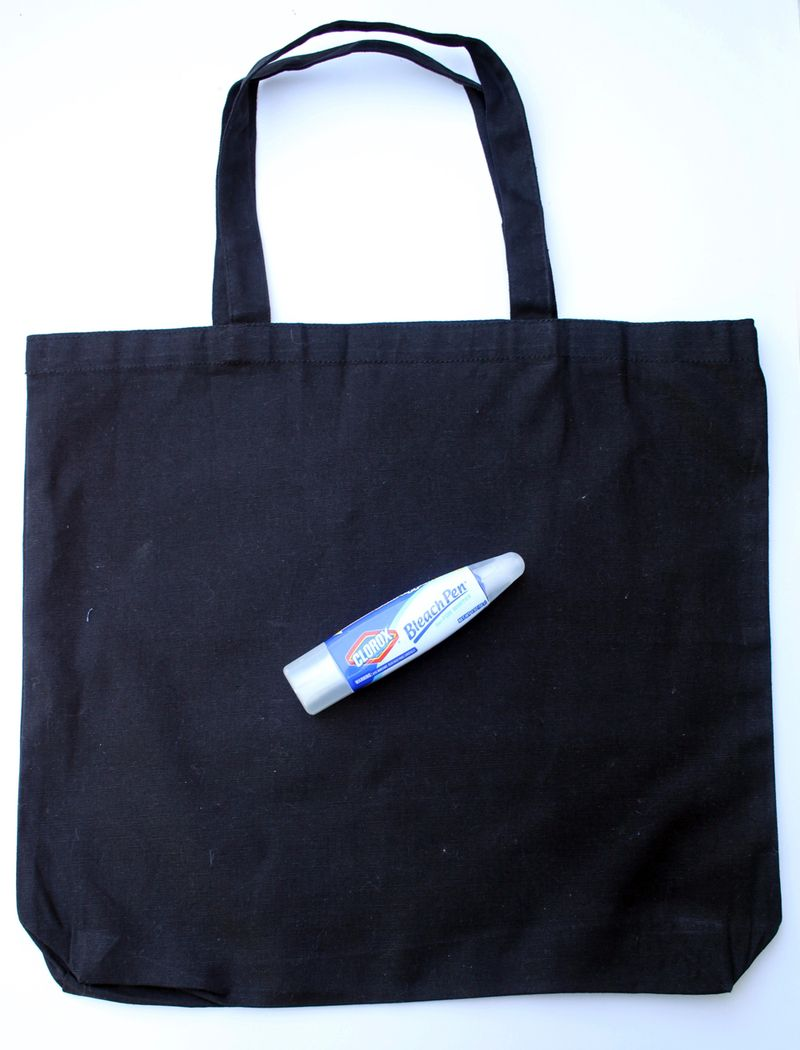 Diy bleach pen tote