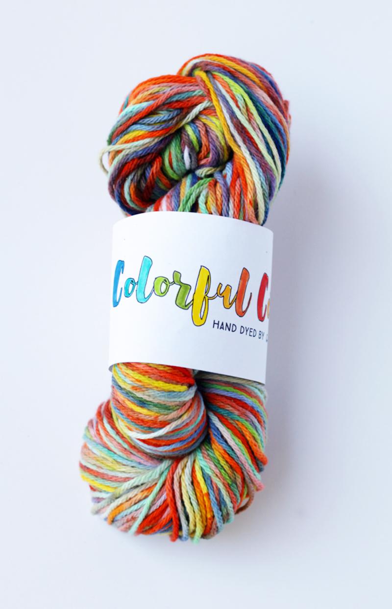 Diy dyed yarn