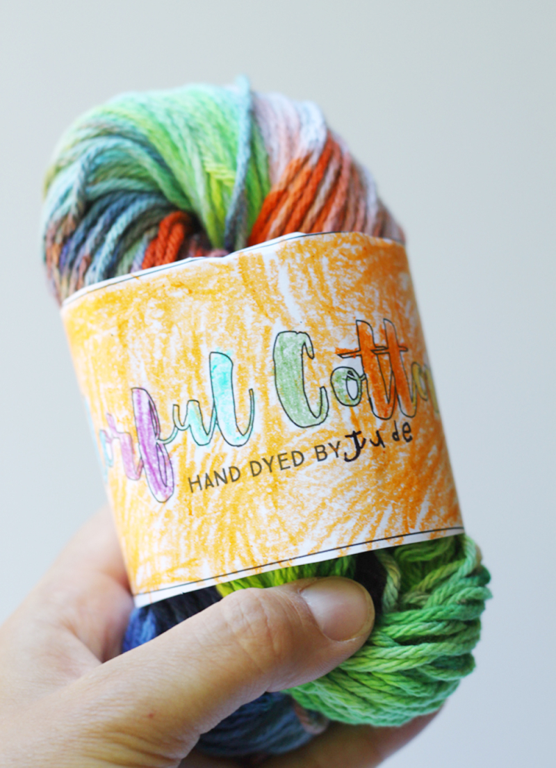 Yarn dyed by kids