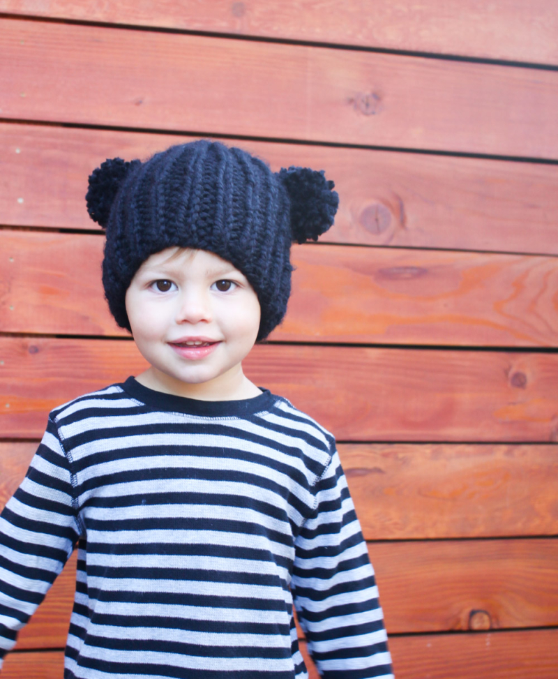 Small Friendly Free Knitting Pattern Bear Beanie