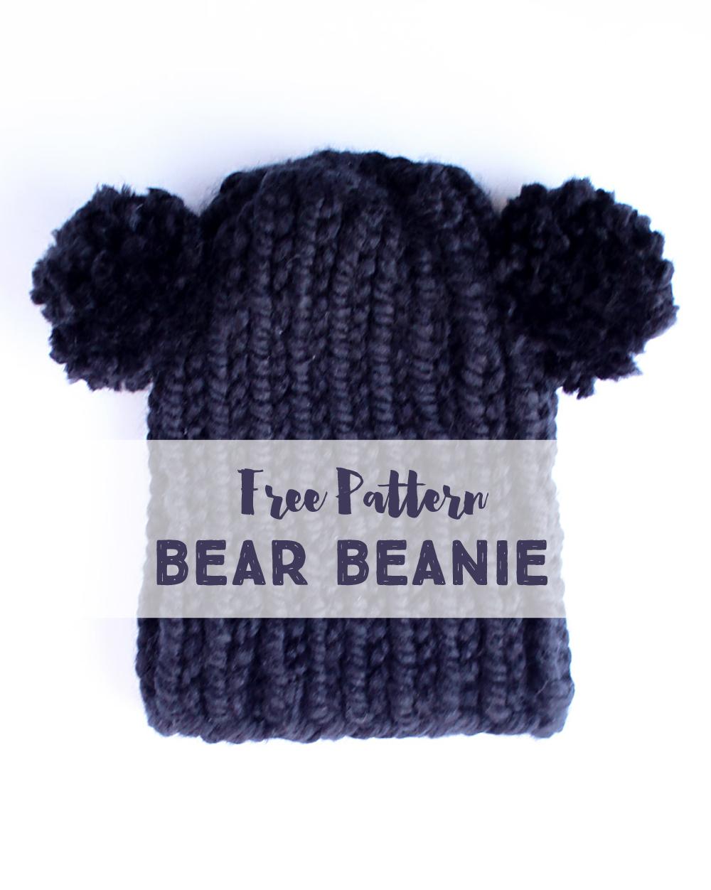 Small friendly free knitting pattern bear beanie free knit hat pattern bankloansurffo Gallery