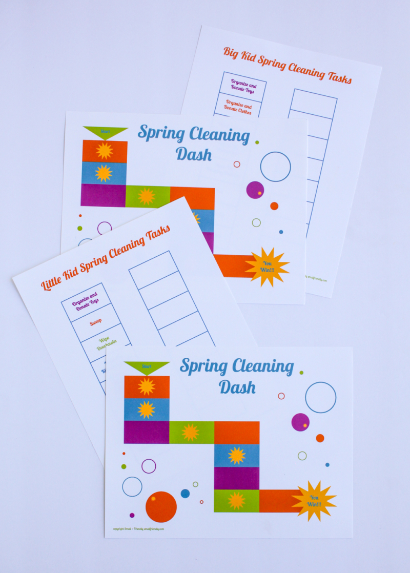 Free printable spring cleaning