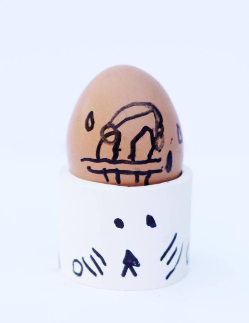 Egg kid craft