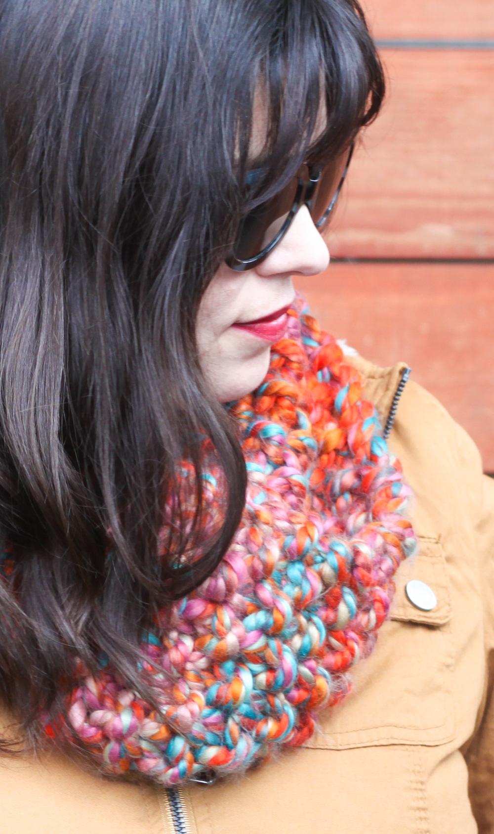 small + friendly: Free Knitting Pattern // Seed Stitch Cowl