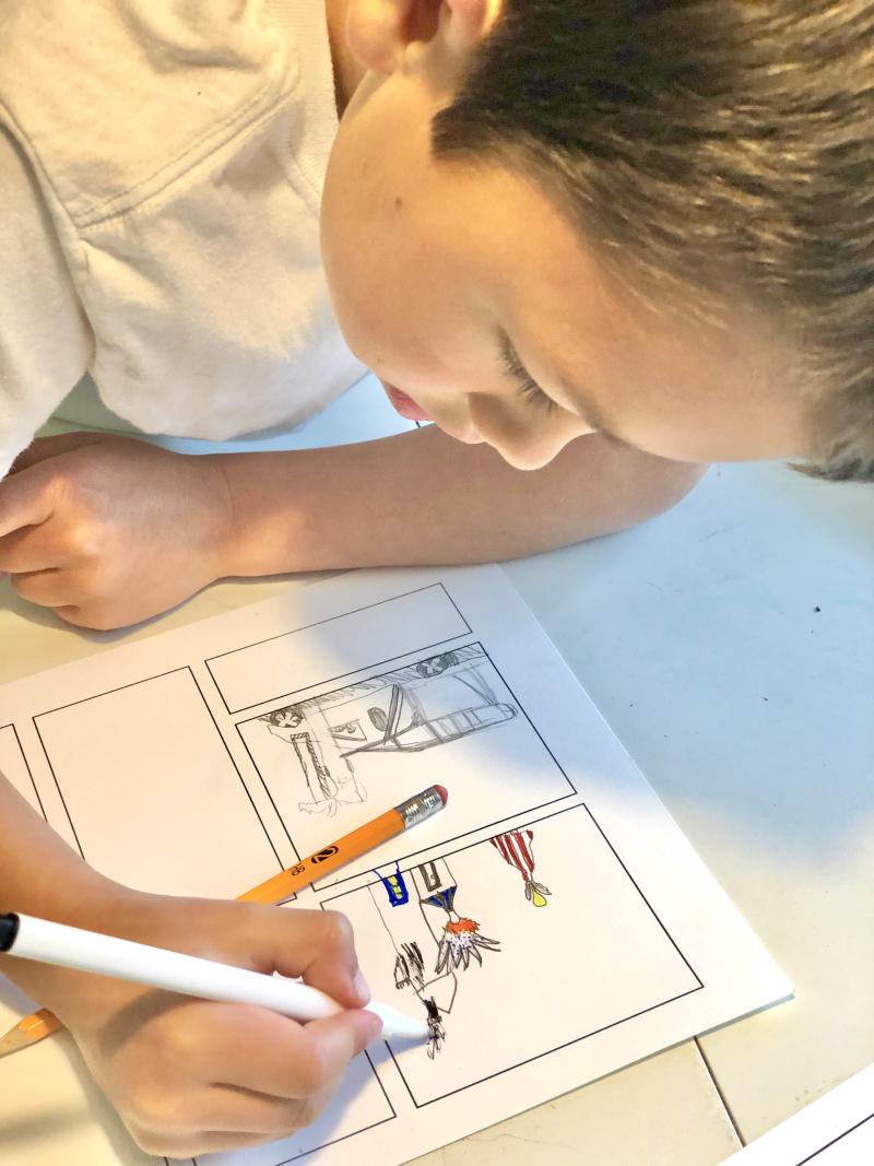 Quarantine kid art